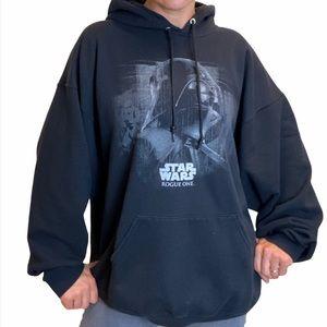 Disney StarWars Darth Vader Rogue One Black Hoodie